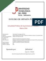 ESTUDIO DE OPINIÓN PÚBLICA CAMANÁ