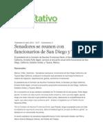 04-04-2014 Diario Rotativo - Senadores se reunen con funcionarios de San Diego y Tijuana.