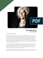 Samantha Hamer Full Resume