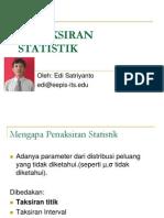 PENAKSIRAN STATISTIK
