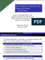 Dr. Danilo Samà - «Essays on Economic Analysis of Competition Law