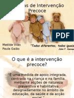 Práticas de Intervenção Precoce_Paula Gaião