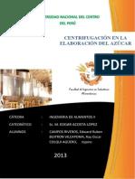 CENTRIFUGACION EN LA ELABORACIÓN DEL AZÚCAR