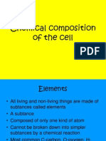 Chapter 4- Chemical Composition of the Cell