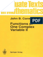 18.112-John B. Conway Functions of One Complex Variable II Graduate Texts in Mathematics Pt. 2 1995