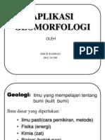 Aplikasi Geomorfologi