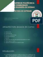 Arquitectura Basada en Capas