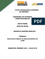Estructuras Logicas de Almacenamiento de Bd