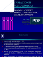 variaciones cromosomicas