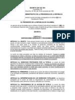 Decreto 2591 de 1991 Reglamenta la acción de Tutela