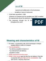 Importance of NI