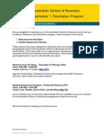 Semester 1 Orientation Program PG-Orientation-S1-2014