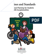 nb guidelines and standards-educational planning for students with exceptionalities