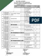 Jadwal Kuliah S3 - SMT I Tahun 2013