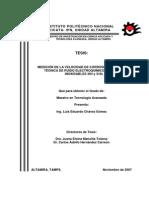 MEDICIÓN DE LA VELOCIDAD DE CORROSIÓN MEDIANTE LA TÉCNICA DE RUIDO ELECTROQUÍMICO EN ACEROS INOXI