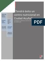 Tendrá éxito un centro nutricional en Ciudad Acuña