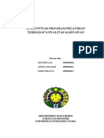 EFEKTIVITAS PROGRAM PELATIHAN TERHADAP LOYALITAS KARYAWAN