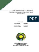 EFEKTIVITAS PERENCANAAN PROGRAM PELATIHAN TERHADAP PRODUKTIVITAS KARYAWAN