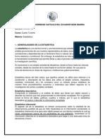 Generalidades de la Estadística.