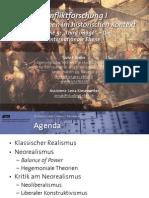 """Int. Konfliktforschung I - Woche 09 - """"Third image"""" / Die internationale Ebene"""