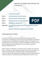 Módulo 3 Gerenciamento de objetos dos Serviços de Domínio do Active Directory.pdf