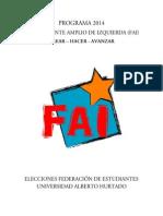 Programa Fai Elecciones 2014