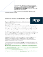 EXHIBIT 075 - NOTICE of Restricted Appearance