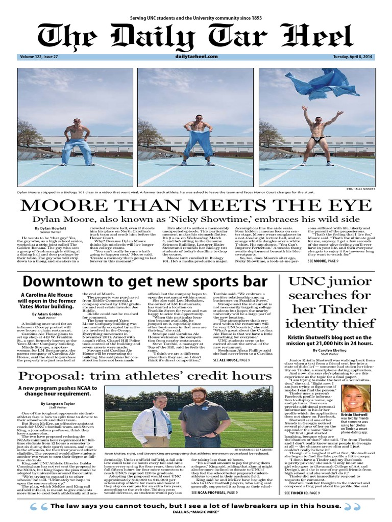 The Daily Tar Heel For April 8, 2014 | University Of North Carolina At  Chapel Hill | Alcoholism