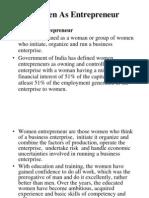 Woman as Entrepreneur