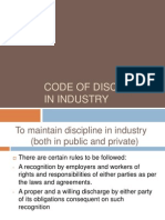 Code of Discipline in Industry