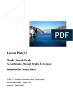Fourth Grade Social Studies Lesson Plan