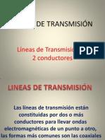 LINEAS DE TRANSMISIÓN 2 CABLES