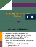 Marketing Mix for Global Markets Final