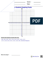 Graphing Four Ordered Puzzle 3