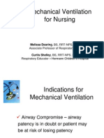 Mechanical Ventilation for Nursing