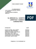 EL SERVICIO AL  CLIENTE EN LA LOGÍSTICA Y CADENA DE SUMINISTROS