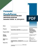 Form Pendaftaran Gasal