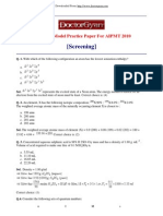 Chemistry Model Practice Paper for AIPMT 2010 Screening]