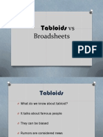 Tabloids vs Broadsheets