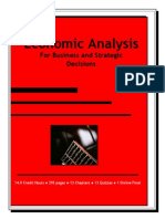 ECONOMIC ANALYSIS - For Business and Strategic Decisions