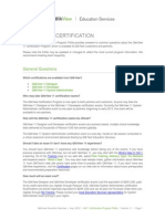 QV11 Certification Program FAQs V1.1