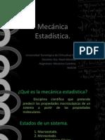 Mecánica estadística.