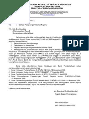 Contoh Surat Perintah Pengosongan Rumah Dinas - Sekitar Rumah