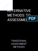 Alternative Methods to Assessment