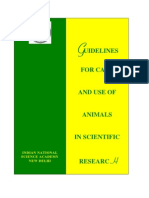 INSA_Guidelines for Care and Use of Animals for Research