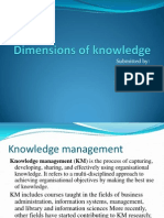 dimensions of knowledge
