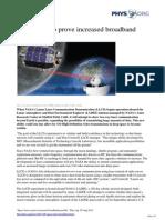 2013 08 Space Laser Broadband