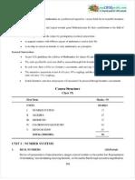 CBSE CCE Class 09 Syllabus for Mathematics 2012-2013 (Term 1 and Term 2)