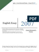 Gwen Harwood Great Essay