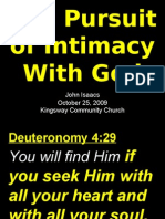 10-25-2009 Pursuing Intimacy with God